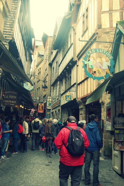 Diagon Alley in Mont St Michel