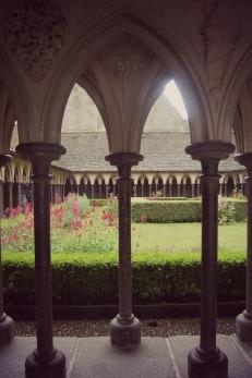 Gardens in Mont St Michel